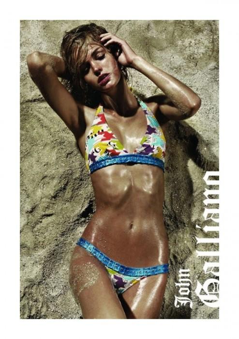 Erin Heatherton John Galliano Spring 2011 Lingerie & Swimwear Campaign by Robbie Fimmano