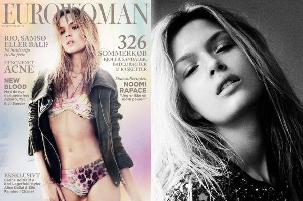 Josephine Skriver by Honer Akrawi for Eurowoman June 2012
