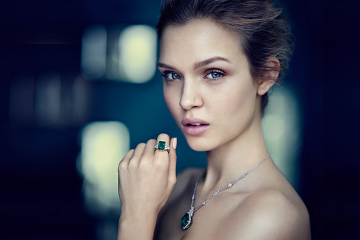 Josephine Skriver Shines in the Gemfields 'Rare Coloured Gemstones' Campaign by Boo George