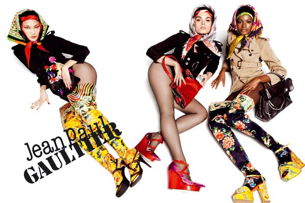 Jean Paul Gaultier Fall 2010 Campaign Preview | Crystal Renn, Emma, & Kelly by Inez & Vinoodh