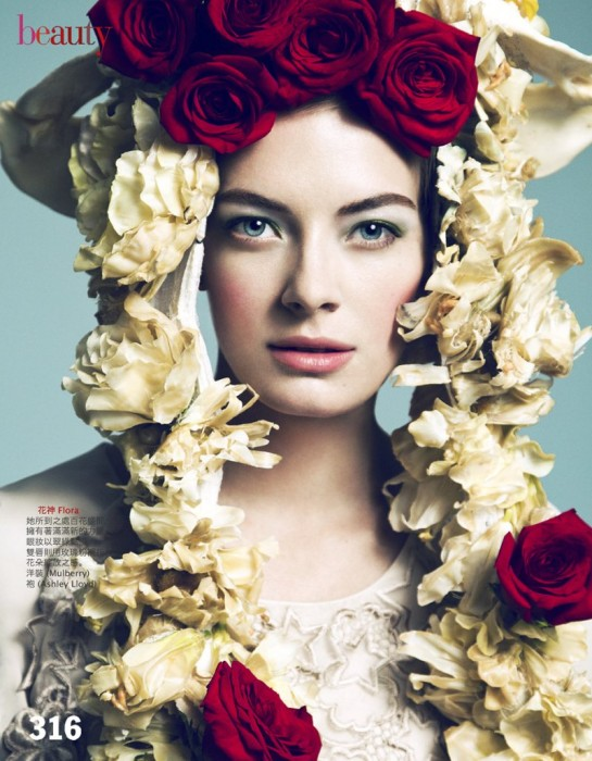 Julia Dunstall by Yossi Michaeli for Vogue Taiwan