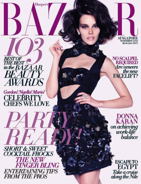 <em>Harper's Bazaar Singapore</em> November 2010 Cover | Julia Valimaki