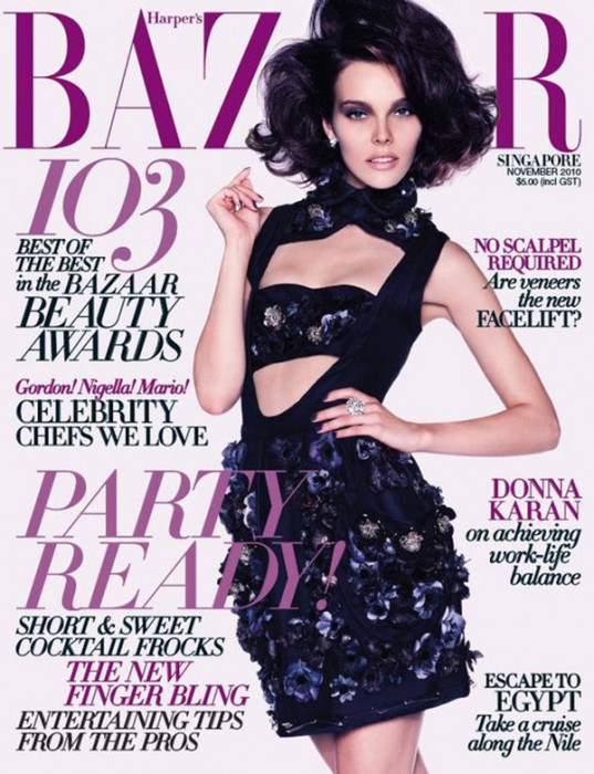 Harper's Bazaar Singapore November 2010 Cover | Julia Valimaki