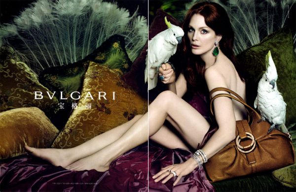 Bvlgari Spring 2010 Campaign Preview | Julianne Moore by Mert Alas & Marcus Piggott