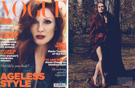 Julianne Moore for Vogue UK July