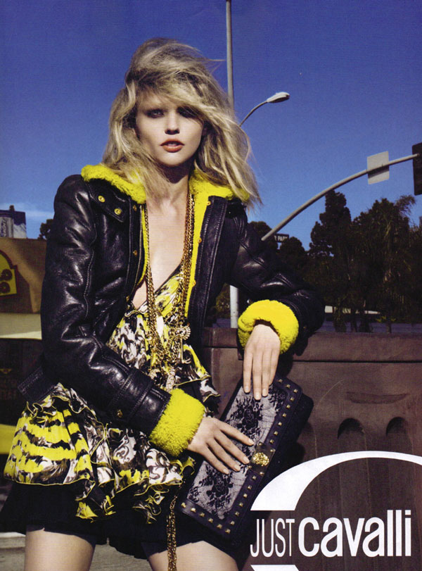 Just Cavalli Fall 2010 Campaign Preview | Sasha Pivovarova