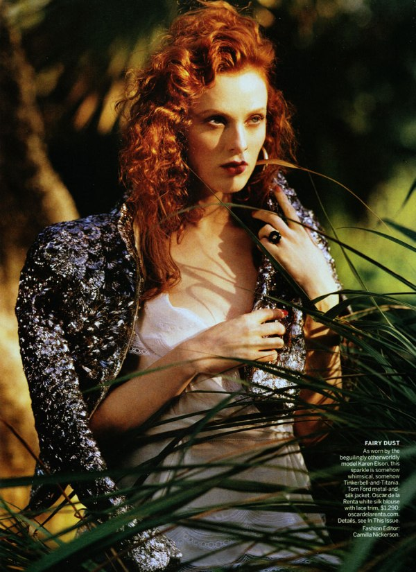 Karen Elson by Bruce Weber for Vogue US March 2011