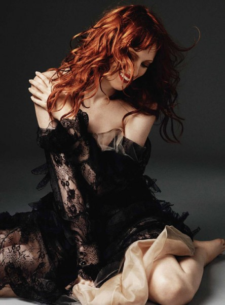 Karen Elson for <em>Harper's Bazaar UK</em> October 2010 by Alexi Lubomirski