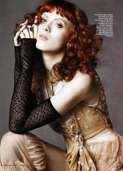 Karen Elson by Simon Burstall for <em>Marie Claire US</em> June 2010