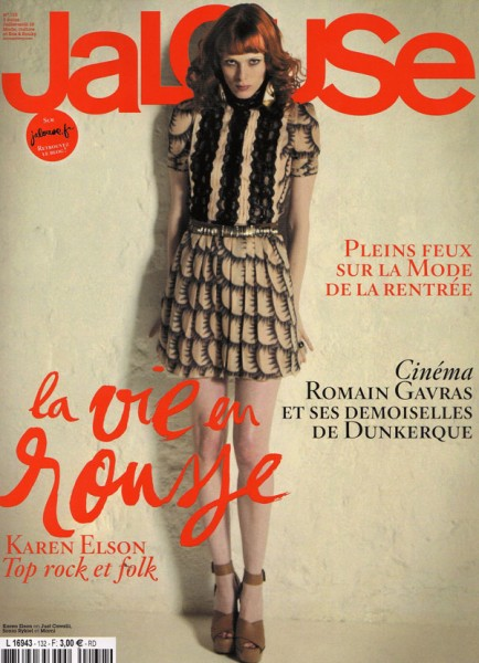 Jalouse July/August 2010 Cover | Karen Elson