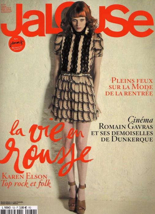 Jalouse July/August 2010 Cover | Karen Elson