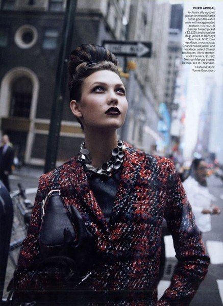 Karlie Kloss by Peter Lindbergh for <em>Vogue US</em> September 2010
