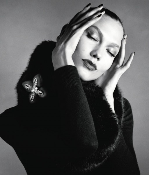 Karlie Kloss Wears Black & Navy Looks for the Neiman Marcus September Book