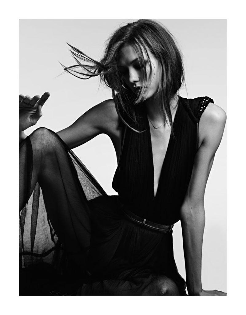 Karlie Kloss by Hedi Slimane for Vogue Japan