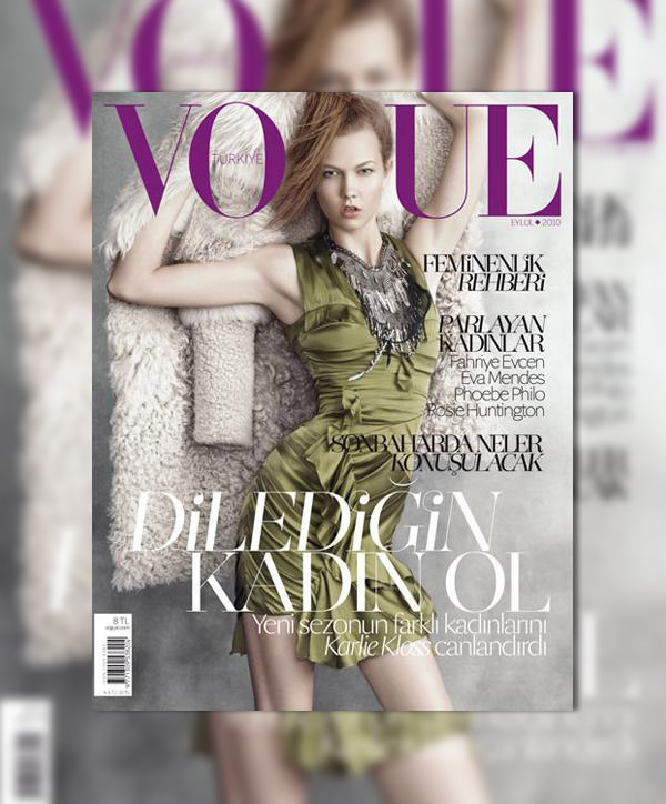 Vogue Turkey September 2010 Cover | Karlie Kloss by Max Vadukul