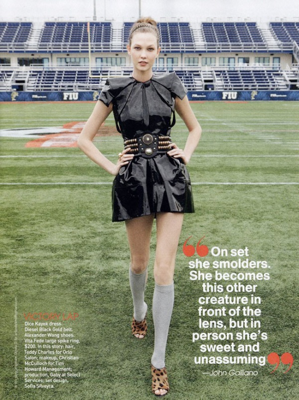 Karlie Kloss by Patrick Demarchelier | Teen Vogue May 2010