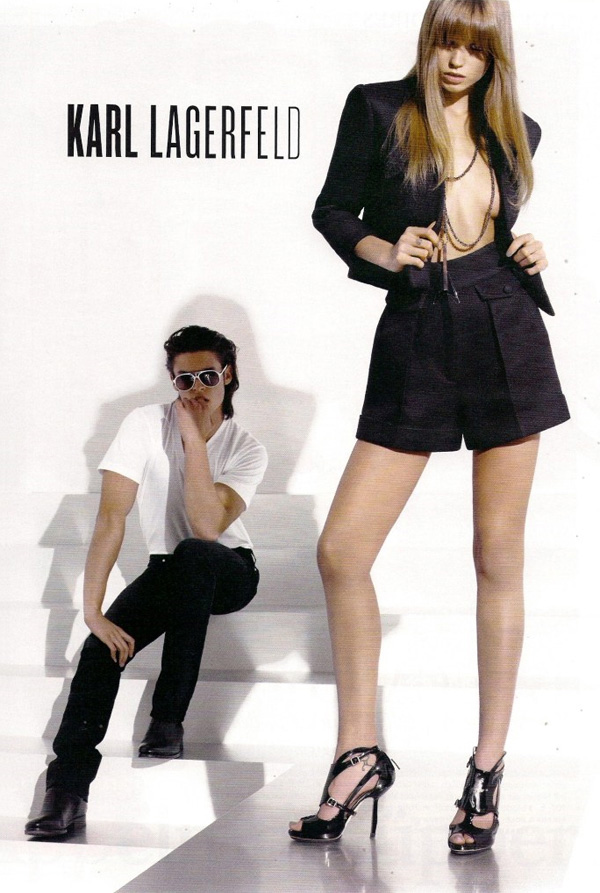 Karl Lagerfeld S/S '10 Campaign Preview | Abbey Lee Kershaw & Baptiste Giabiconi by Karl Lagerfeld
