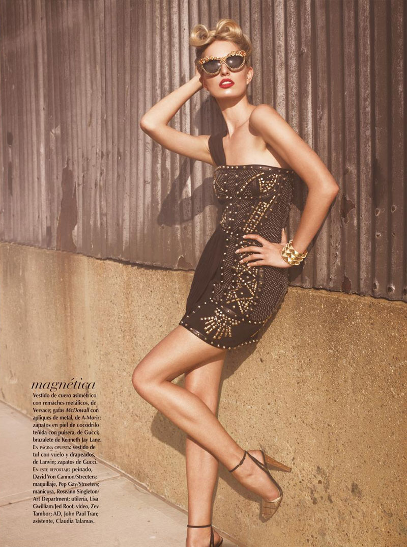 Karolina Kurkova is Movie Star Glam for Vogue Mexico's June Cover Shoot