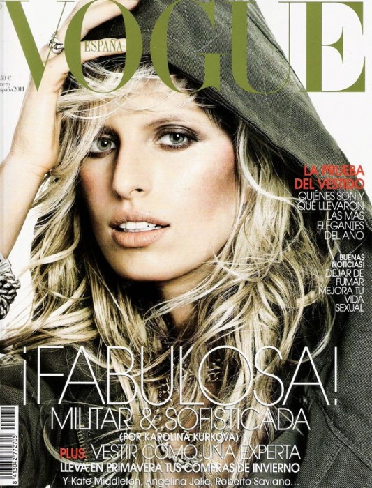 Vogue Spain January 2011 Cover | Karolina Kurkova by Tom Munro