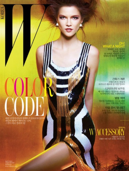 Kasia Struss Covers W Korea May 2012 in Gucci