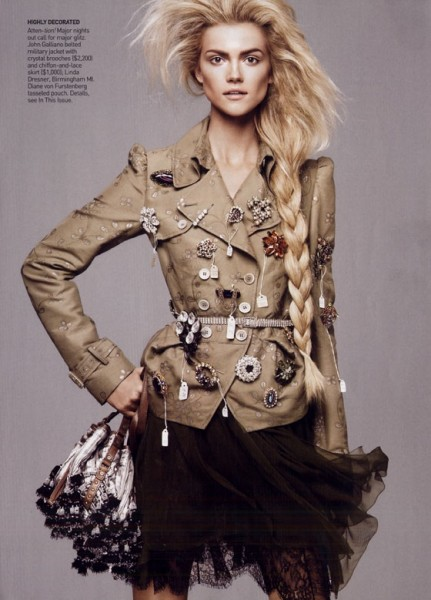 Vogue US January 2010 | Kasia Struss by David Sims