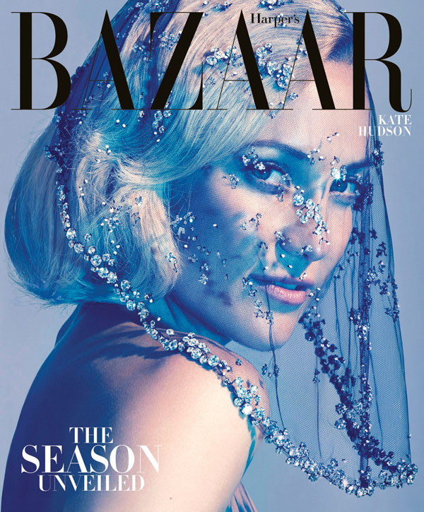 Kate Hudson Stuns in Armani Privé on the Cover of Harper's Bazaar US October 2012