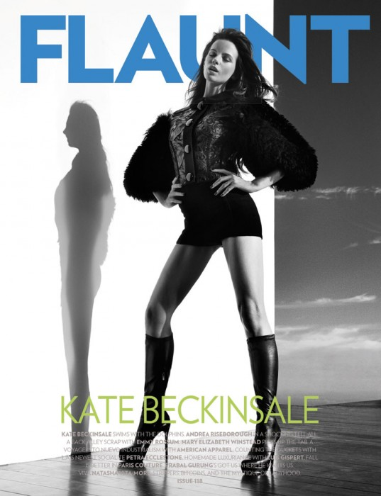 Kate Beckinsale Covers Flaunt #118 + Film