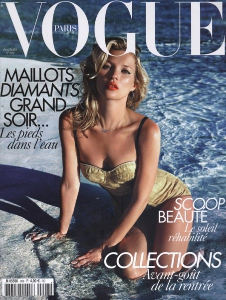 <em>Vogue Paris</em> June/July 2010 Cover | Kate Moss by Mario Sorrenti