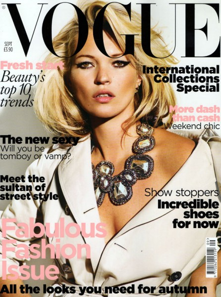 Vogue UK September 2009 – Kate Moss by Mario Testino