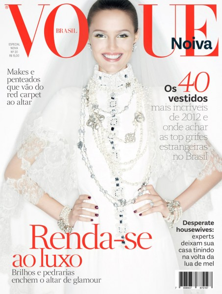 Katie Fogarty is All Smiles for Vogue Brazil Brides' 2012 Cover by Renam Christofoletti