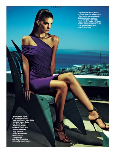 Katryn Kruger by James Meakin for Stella Magazine April 2012