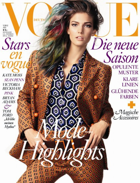 Kendra Spears Looks Psychedelic in Prada for Vogue Germany's July 2012 Cover