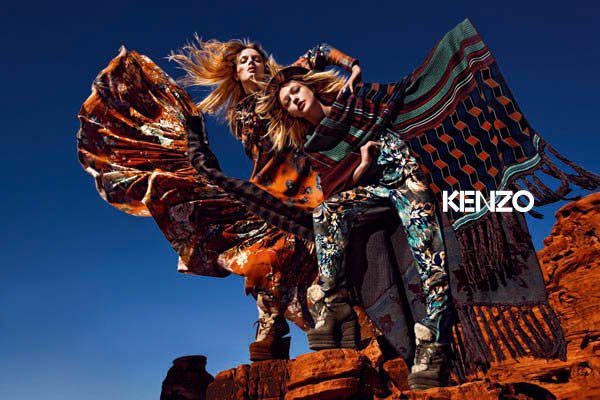 Kenzo Fall 2010 Campaign Preview | Lily Donaldson & Sasha Pivovarova by Mario Sorrenti
