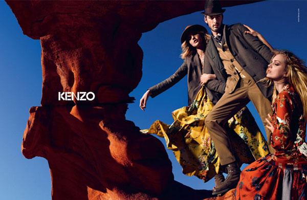 Kenzo Fall 2010 Campaign | Lily Donaldson & Sasha Pivovarova by Mario Sorrenti