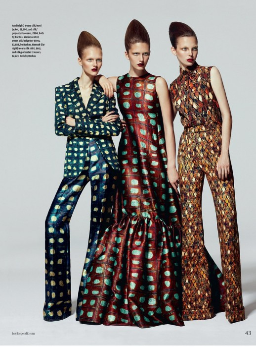 Kevin Sinclair Shoots Funky Patterns for How to Spend It September 2012
