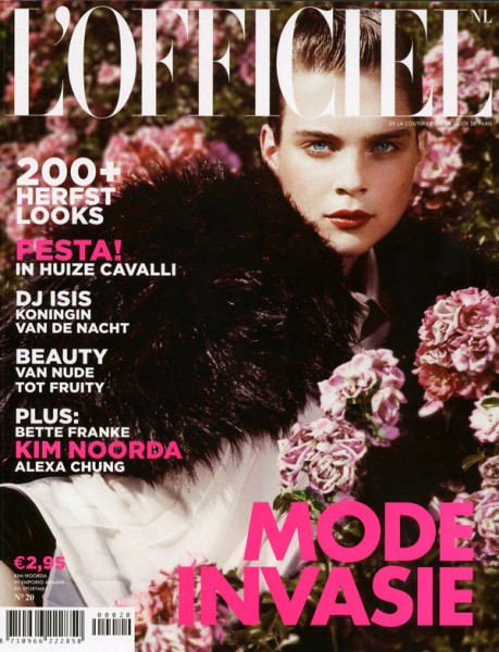 <em>L&#8217;Officiel Netherlands</em> September 2010 Cover  | Kim Noorda