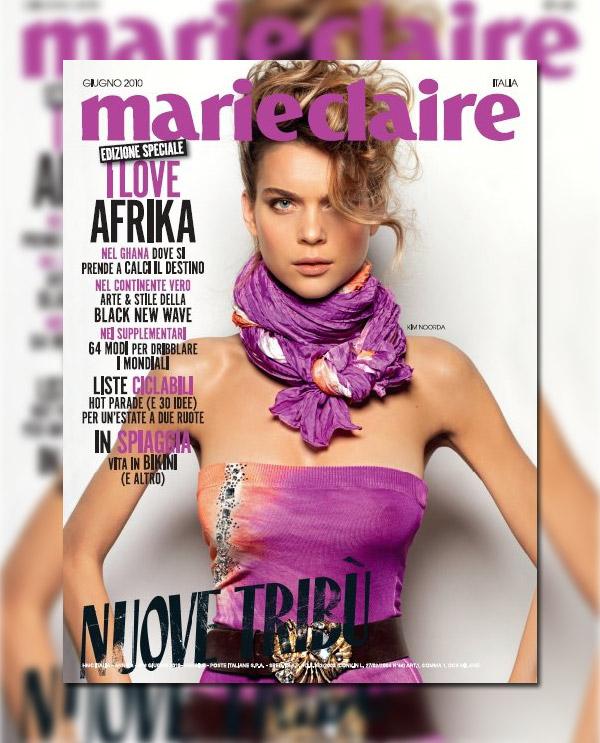 Marie Claire Italia June 2010 Cover | Kim Noorda