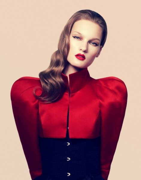 Kirsi Pyrhonen by Samuli Karala in Kirsi&#8217;s Extreme Beauty | <em>Muse</em> Fall 2010