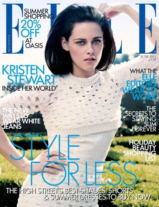 Kristen Stewart Covers Elle UK June 2012 in Jil Sander