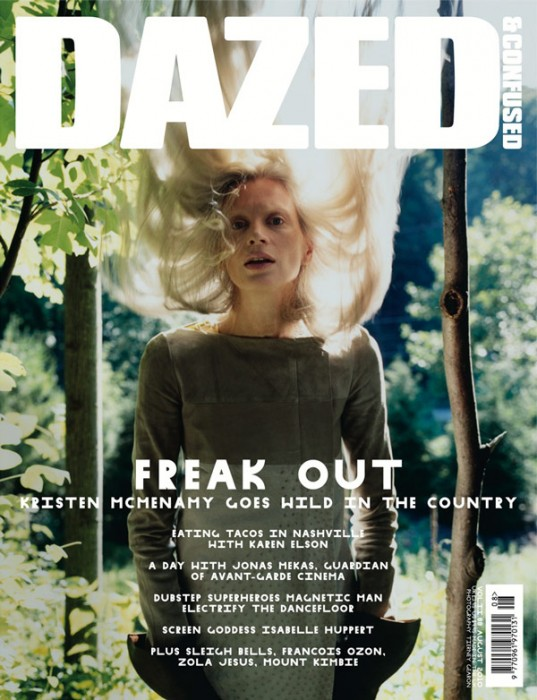 Dazed & Confused August 2010 Cover | Kristen McMenamy by Tierney Gearon
