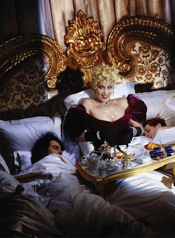 Laetitia Casta as Mae West for Harper's Bazaar US August 2010