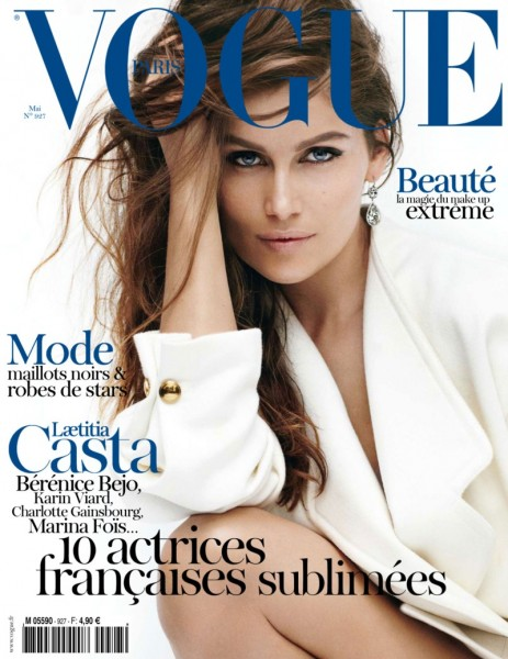Vogue Paris May 2012 Cover | Laetitia Casta by Mario Testino