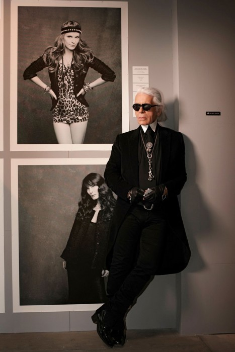 "Karl Lagerfeld Dons Signature Look for Vogue Japan, Celebrating ""The Little Black Jacket"""