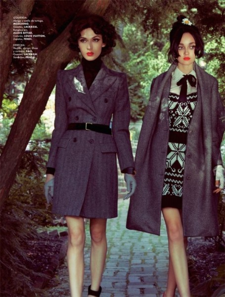 Izzy, Mirielle & Marie-Helene by Jamie Nelson for Elle Mexico