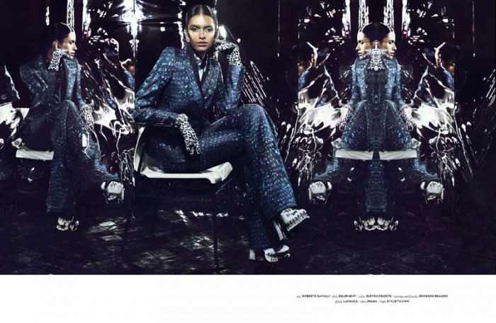 Lakshmi Menon Sports Geometric Fashions for Vision China September 2012 by Yasunari Kikuma