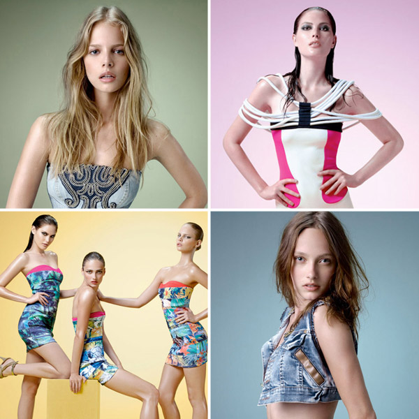 Catherine McNeil, Karmen Pedaru & Marloes Horst for Lanca Perfume Spring 2011 Campaign
