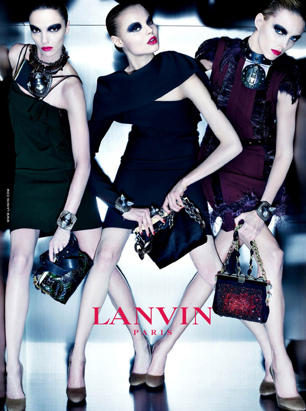 Lanvin Fall 2010 Campaign | Mariacarla, Anja & Magdalena by Steven Meisel