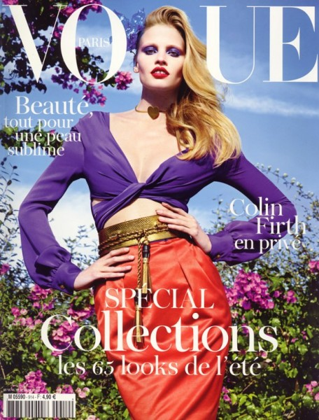 <em>Vogue Paris</em> February 2011 Cover | Lara Stone by Mario Sorrenti