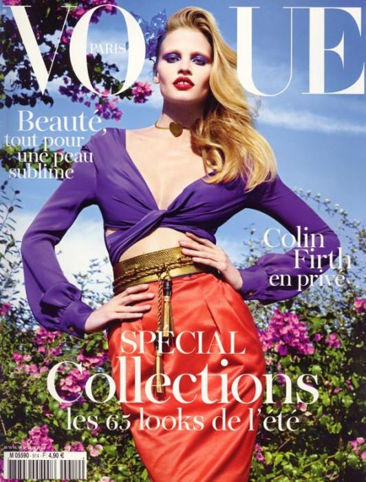Vogue Paris February 2011 Cover   Lara Stone by Mario Sorrenti
