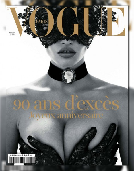 <em>Vogue Paris</em> October 2010 Cover | Lara Stone by Mert &#038; Marcus